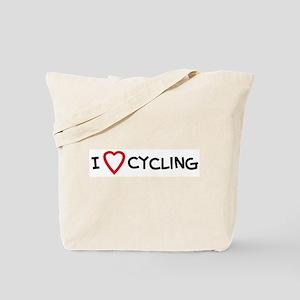 I Love Cycling Tote Bag