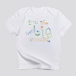 fun font new big cousin Infant T-Shirt