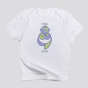 Yoga Baby : Purple & Green Infant T-Shirt