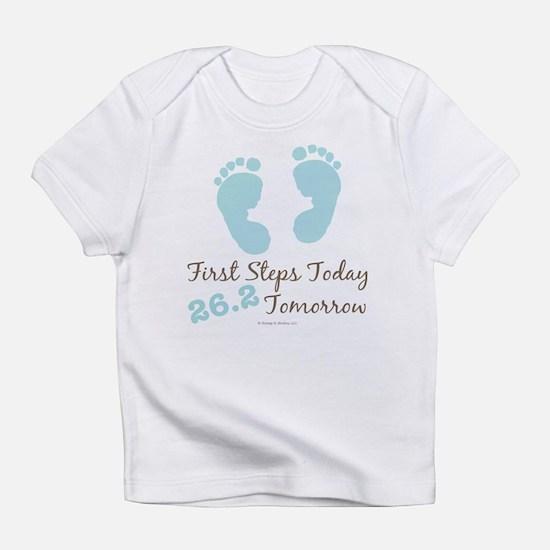 Blue Baby Footprints 26.2 Marathon Infant T-Shirt