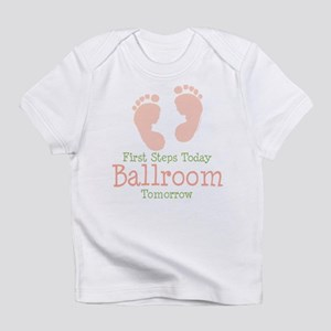 Pink Footprints Ballroom Dancing Onesie Infant T-S