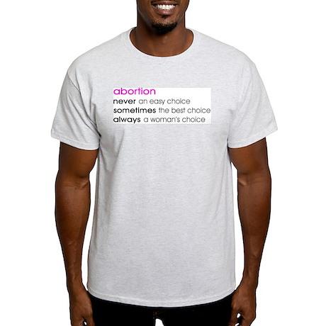 Abortion Choice Ash Grey T-Shirt