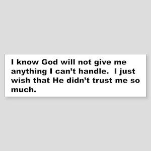 Quote on God's Trust Sticker (Bumper)