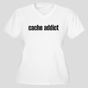 Cache Addict Women's Plus Size V-Neck T-Shirt