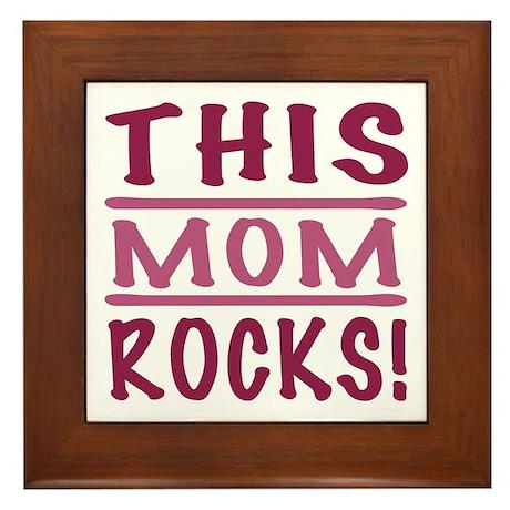 This Mom Rocks Framed Tile