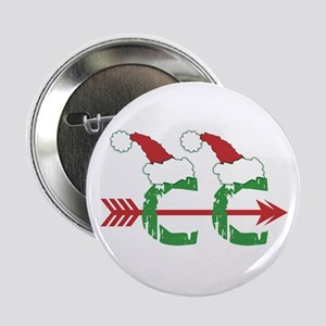 """Cross Country Christmas 2.25"""" Button"""