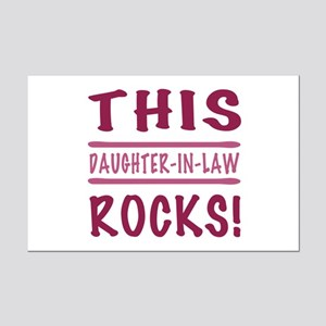 This Daughter-In-Law Rocks Mini Poster Print
