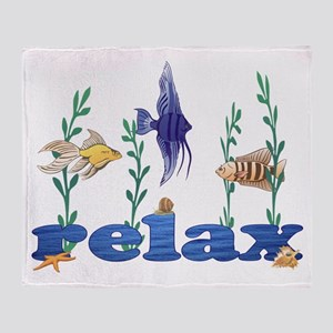 Relax Tropical Fish Throw Blanket