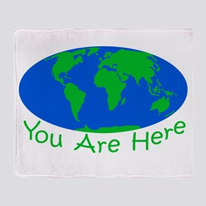 Earth Day You Are Here Throw Blanket