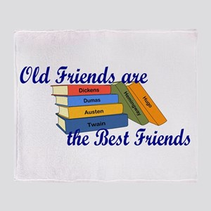 Books Best Friends Throw Blanket