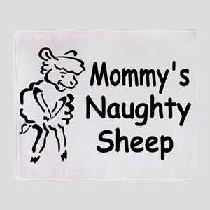 Mommy's Naughty Sheep Throw Blanket