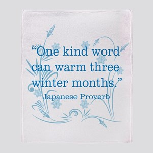 One Kind Word Throw Blanket