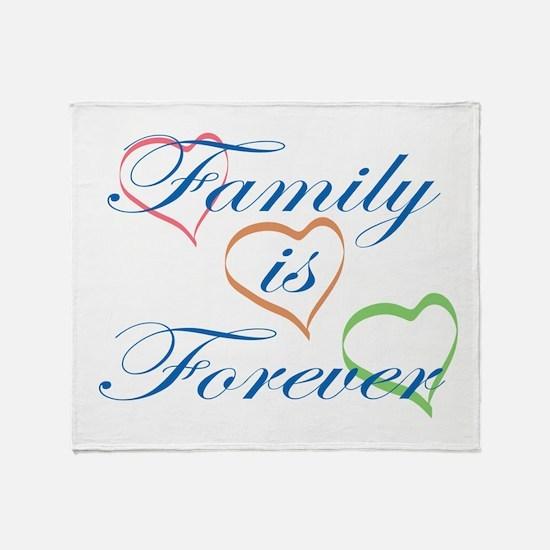 Family is Forever Throw Blanket