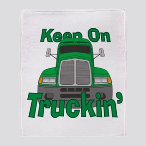 Keep On Truckin Throw Blanket