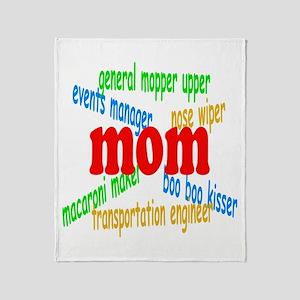Supermom Throw Blanket