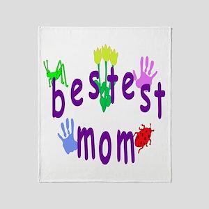 Bestest Mom Throw Blanket