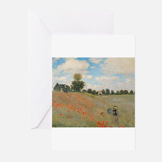 Wild Poppies, near Argenteuil by Claude Monet Gree