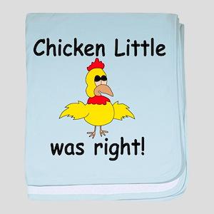 Chicken Little Was Right baby blanket