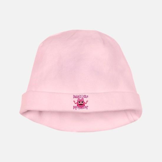 Girl Daddy's Little Monster baby hat