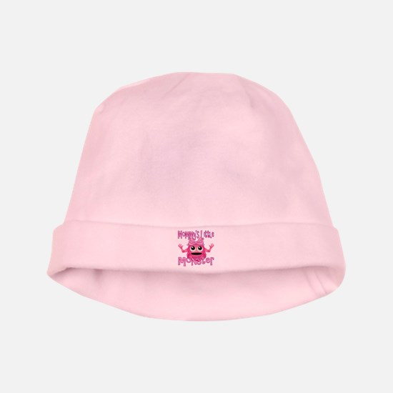 Girl Mommy's Little Monster baby hat