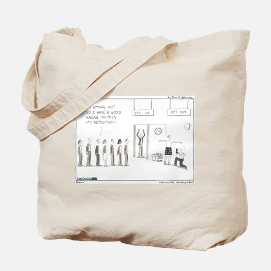 Opt Out Tote Bag