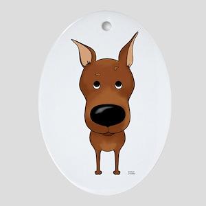 Big Nose Min Pin Ornament (Oval)