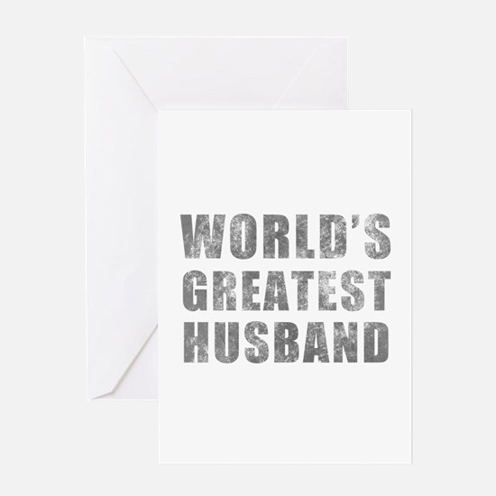 World's Greatest Husband (Grunge) Greeting Card