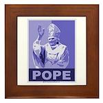 Pope Framed Tile