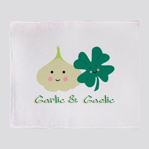 Garlic & Gaelic Throw Blanket