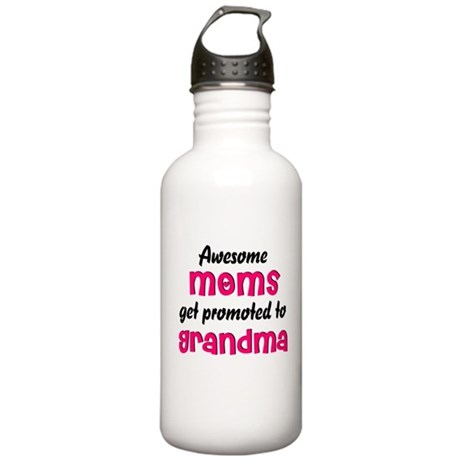 Awesome Moms get promoted Stainless Water Bottle 1