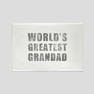 World's Greatest Grandad (Grunge) Rectangle Magnet
