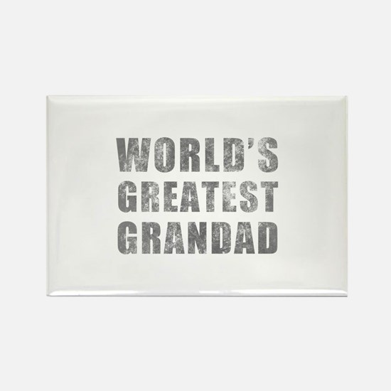 World's Greatest Grandad (Grunge) Rectangle Magnet
