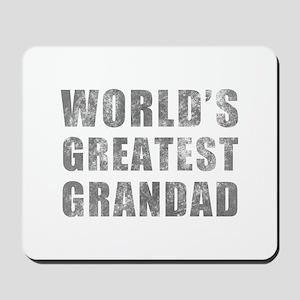 World's Greatest Grandad (Grunge) Mousepad