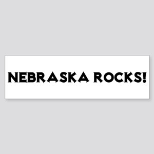 Nebraska Rocks! Bumper Sticker