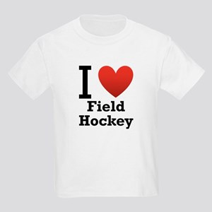 I Love Field Hockey Kids Light T-Shirt
