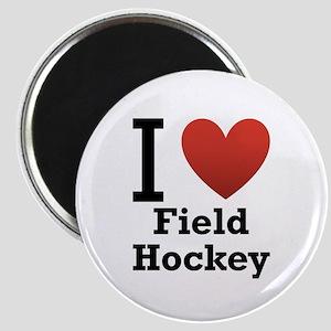 I Love Field Hockey Magnet