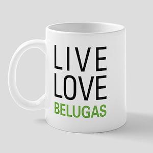 Live Love Belugas Mug