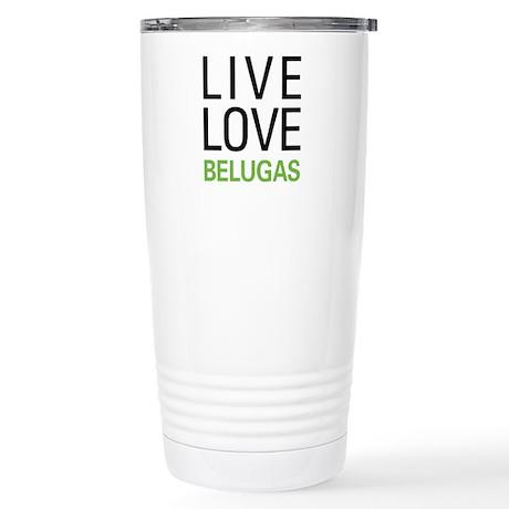 Live Love Belugas Stainless Steel Travel Mug