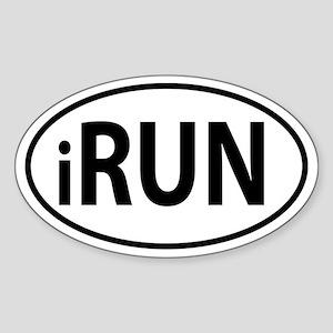 iRun Oval decal Sticker (Oval)