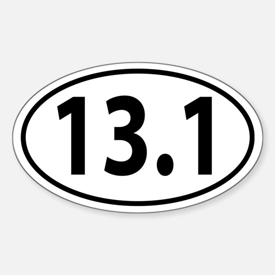 13.1 Half Marathon Oval decal Sticker (Oval)