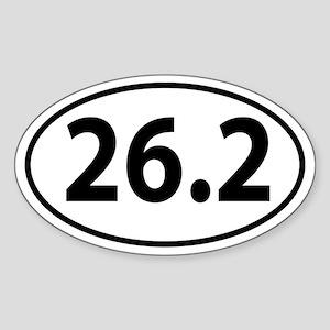 26.2 Marathon Oval decal Sticker (Oval)