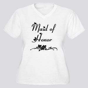 Classic Maid of Honor Women's Plus Size V-Neck T-S