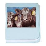 Brothers Angus Bull Calf baby blanket
