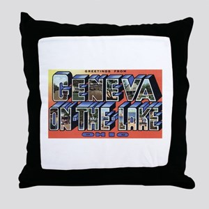 Geneva on the Lake Throw Pillow