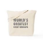 World's Greatest Great Grandpa (Grunge) Tote Bag