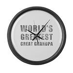 World's Greatest Great Grandpa (Grunge) Large Wall