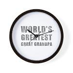 World's Greatest Great Grandpa (Grunge) Wall Clock