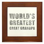 World's Greatest Great Grandpa (Grunge) Framed Til