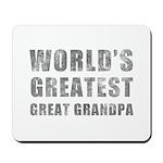 World's Greatest Great Grandpa (Grunge) Mousepad