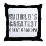 World's Greatest Great Grandpa (Grunge) Throw Pill